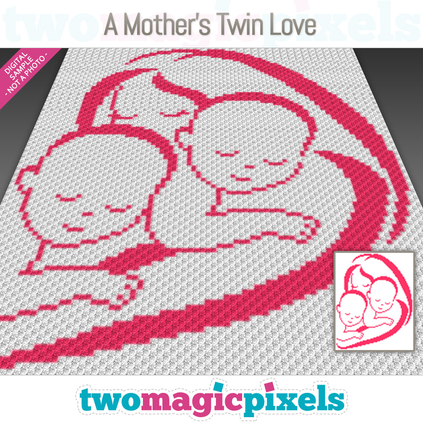 A Mother's Twin Love by Two Magic Pixels
