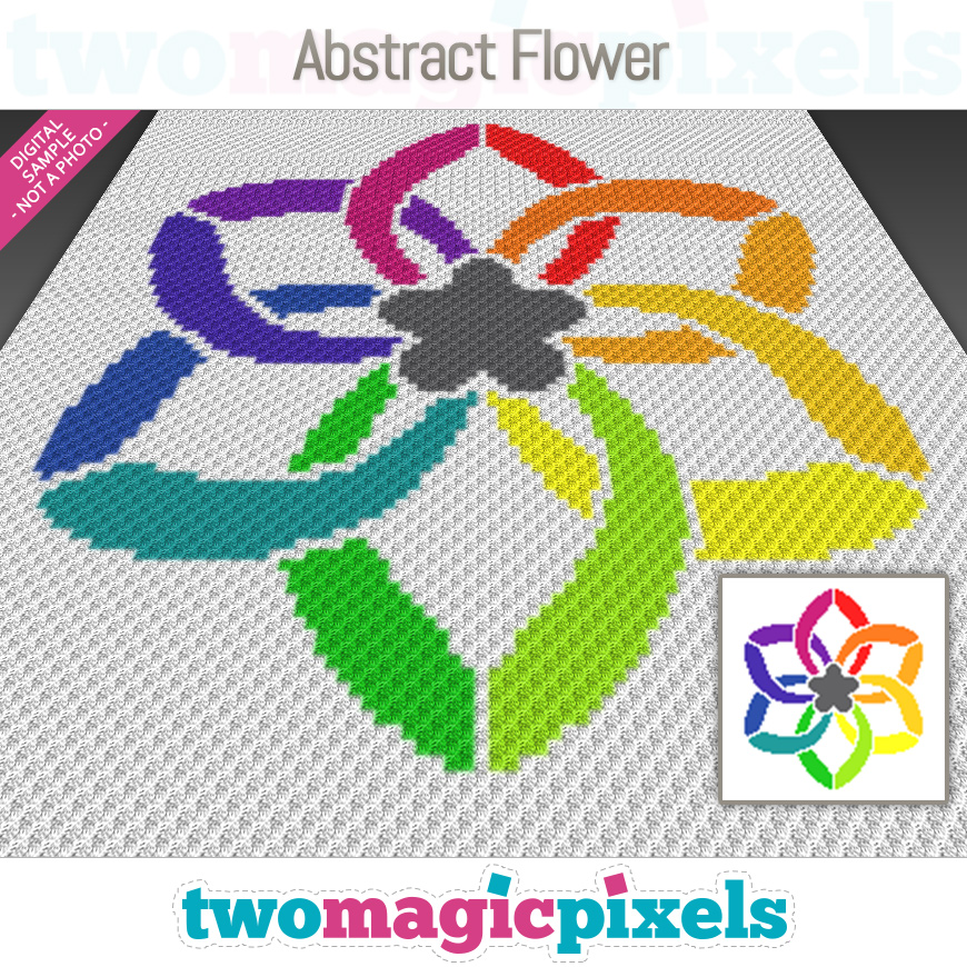 Abstract Flower by Two Magic Pixels