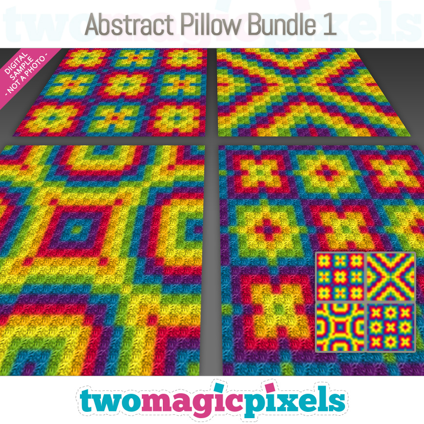 Abstract Pillow Bundle 1 by Two Magic Pixels