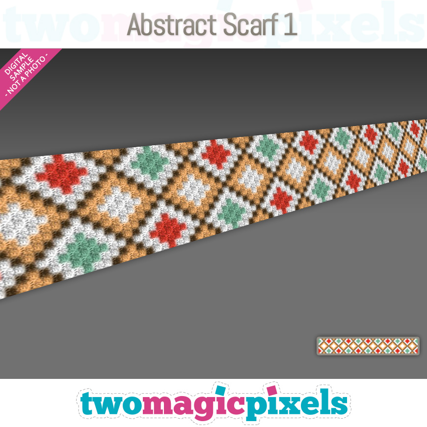 Abstract Scarf 1 by Two Magic Pixels