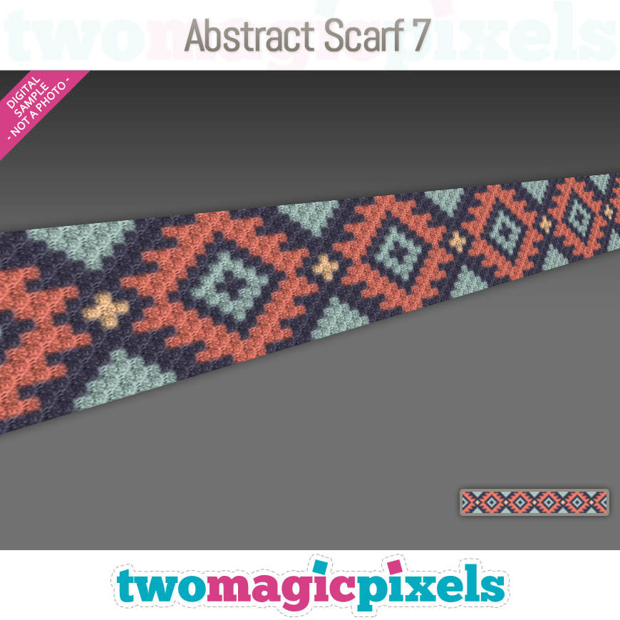 Abstract Scarf 7 by Two Magic Pixels