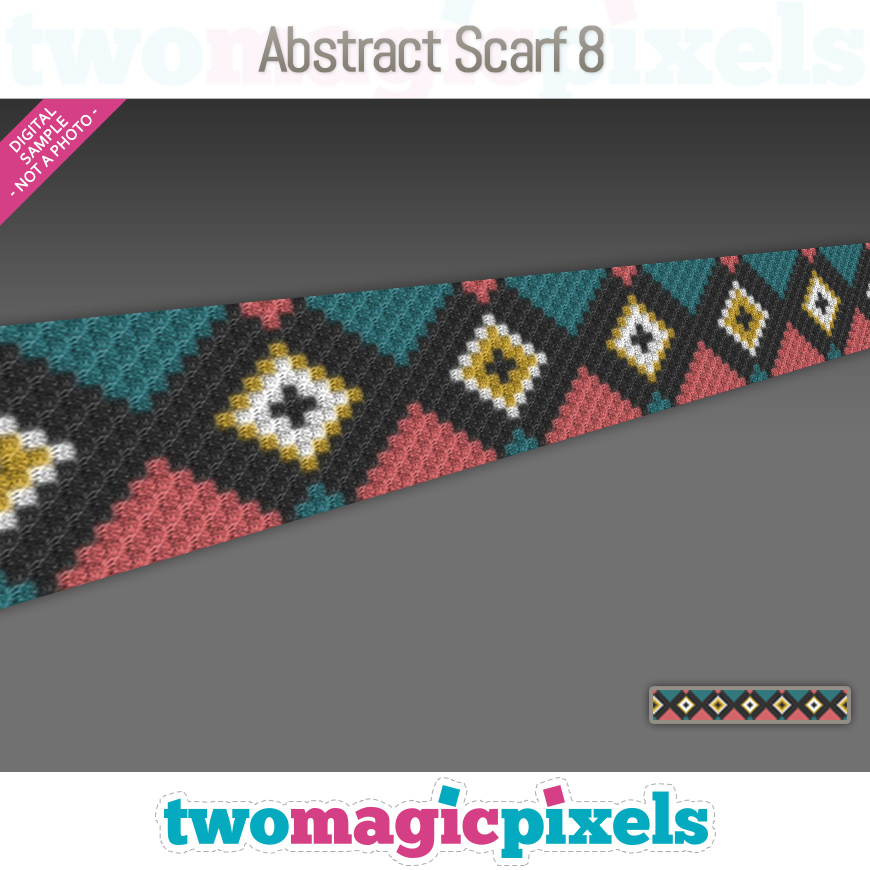 Abstract Scarf 8 by Two Magic Pixels