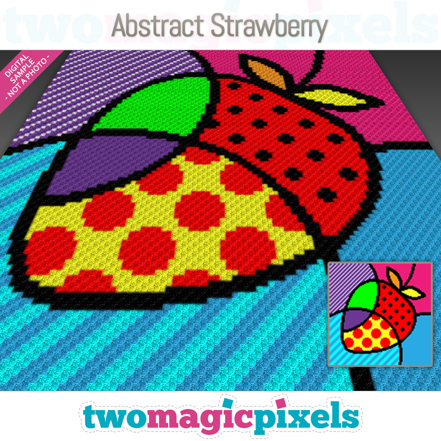 Abstract Strawberry by Two Magic Pixels