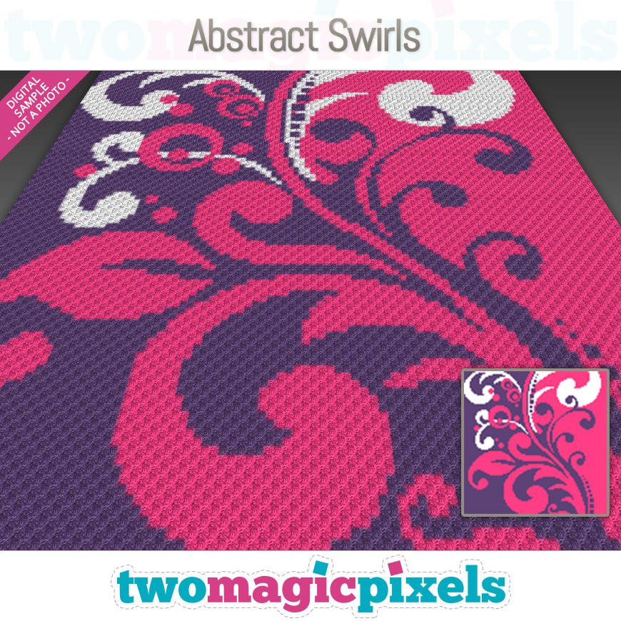 Abstract Swirls by Two Magic Pixels