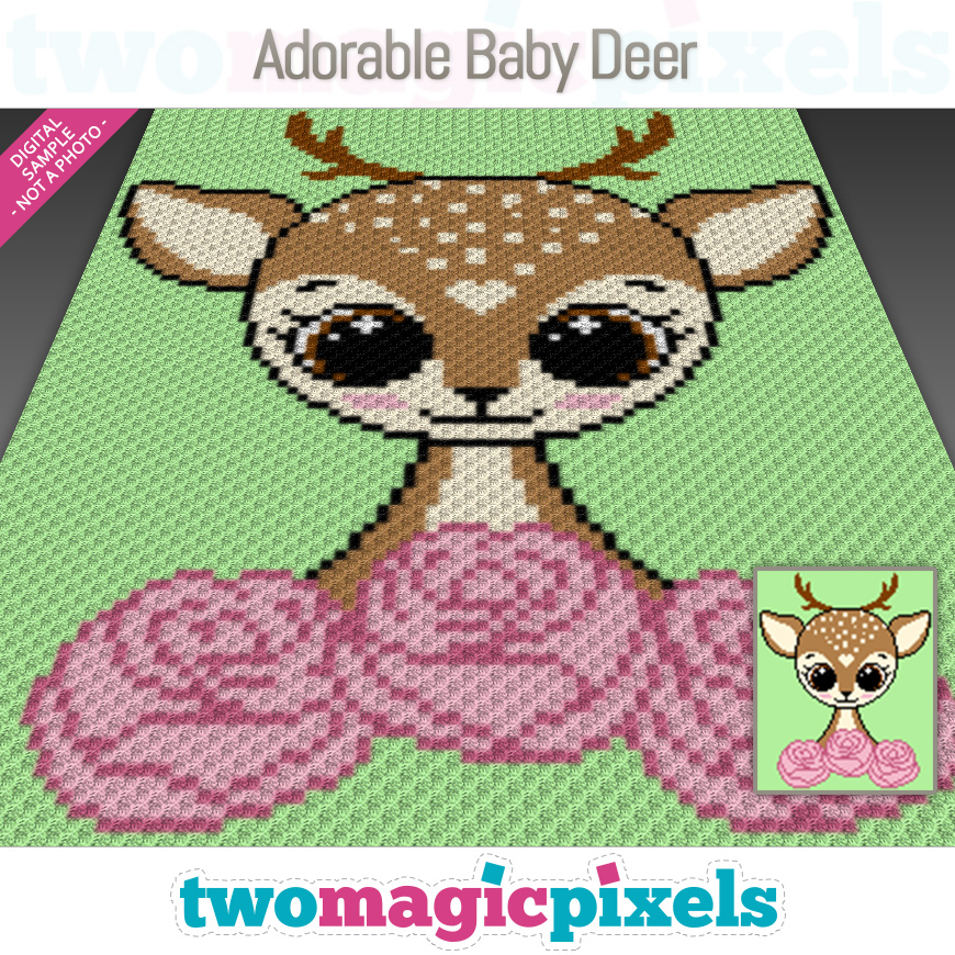 Adorable Baby Deer by Two Magic Pixels