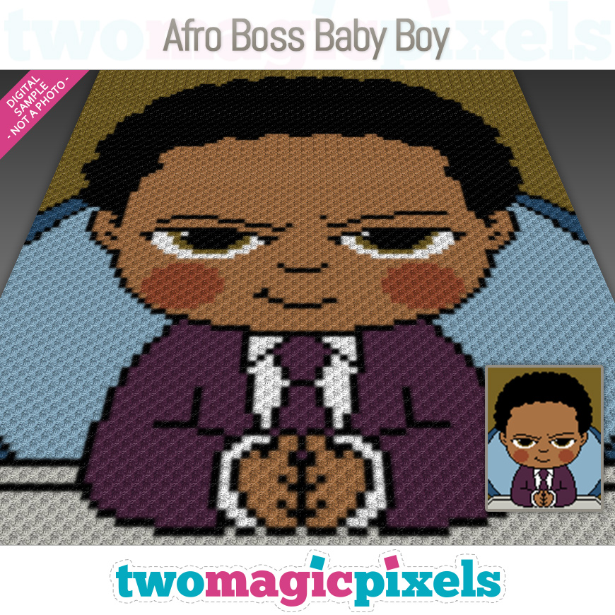 Afro Boss Baby Boy by Two Magic Pixels