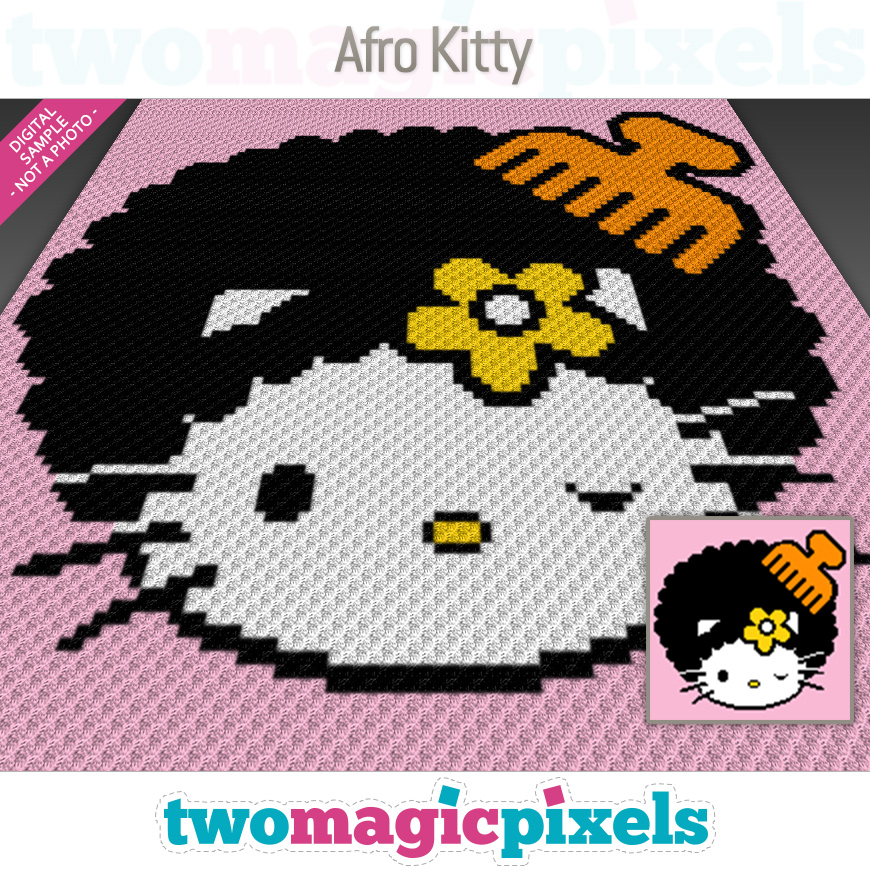 Afro Kitty by Two Magic Pixels