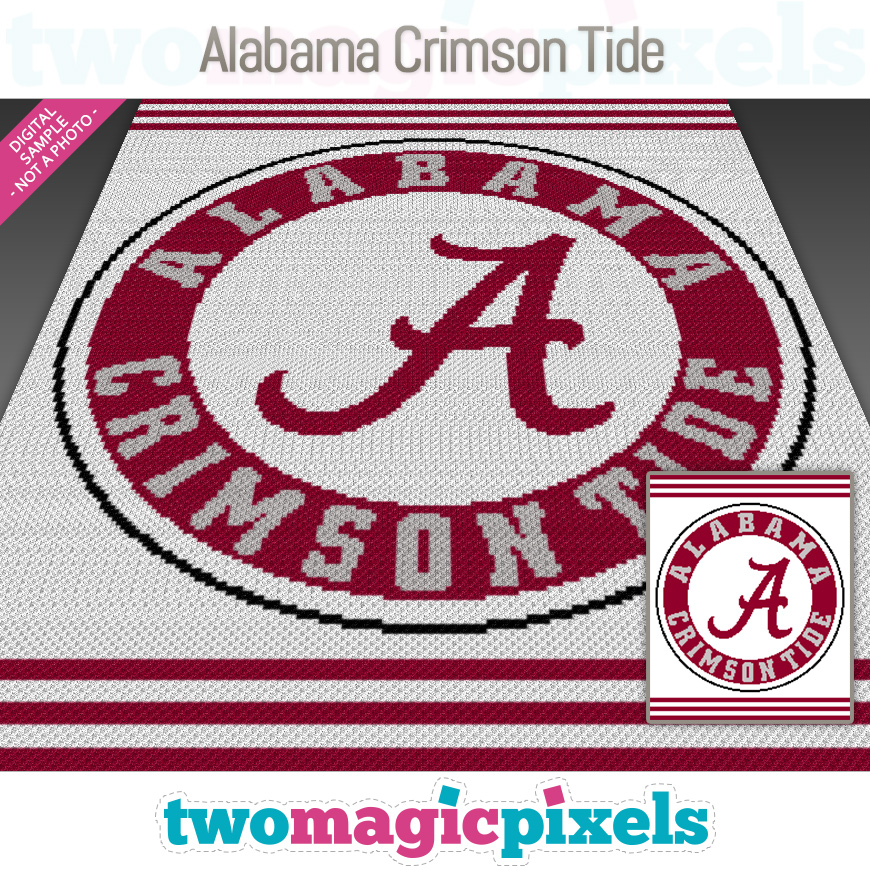 Alabama Crimson Tide by Two Magic Pixels