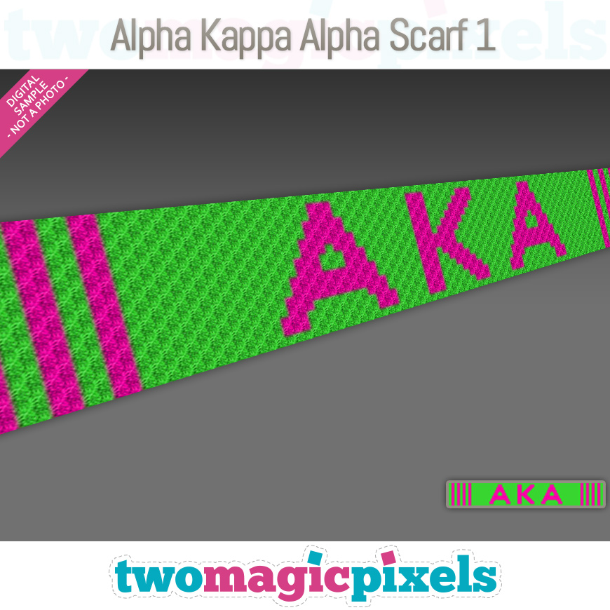 Alpha Kappa Alpha Scarf 1 by Two Magic Pixels