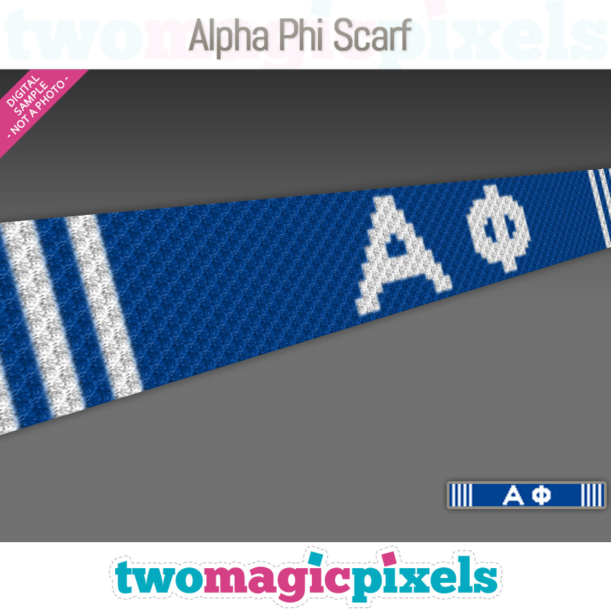Alpha Phi Scarf by Two Magic Pixels