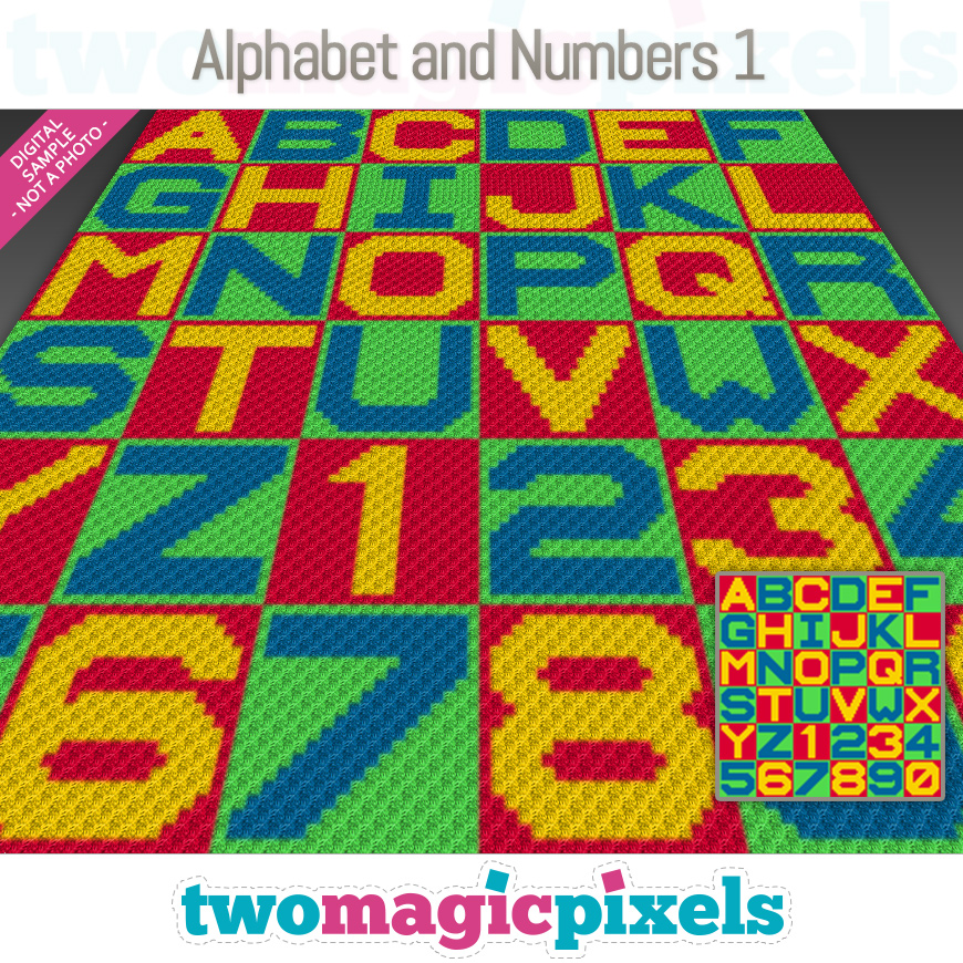 Alphabet and Numbers 1 by Two Magic Pixels