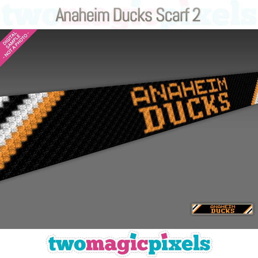 Anaheim Ducks Scarf 2 by Two Magic Pixels