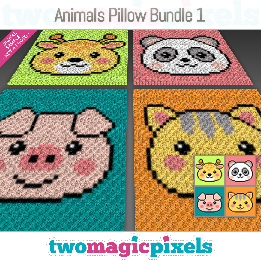 Animals Pillow Bundle 1 by Two Magic Pixels
