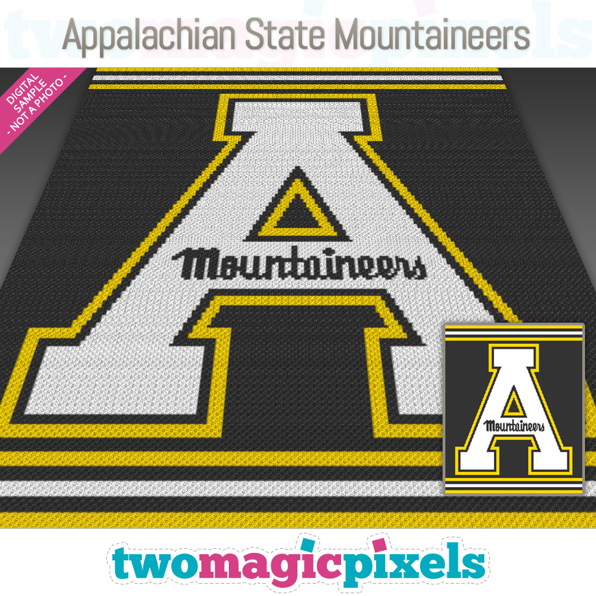 Appalachian State Mountaineers by Two Magic Pixels