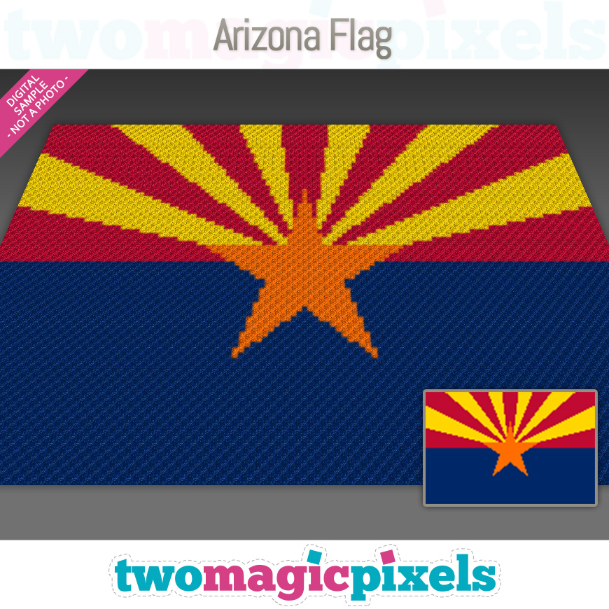 Arizona Flag by Two Magic Pixels