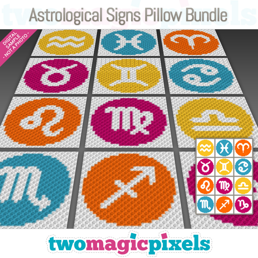 Astrological Signs Pillow Bundle by Two Magic Pixels