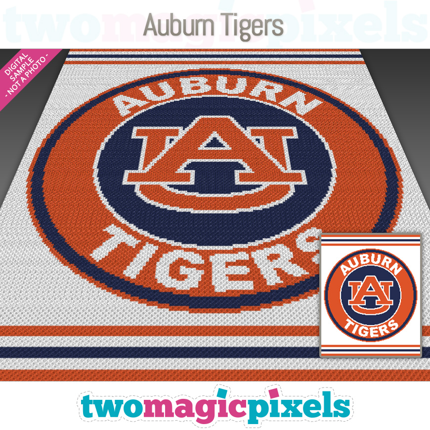 Auburn Tigers by Two Magic Pixels