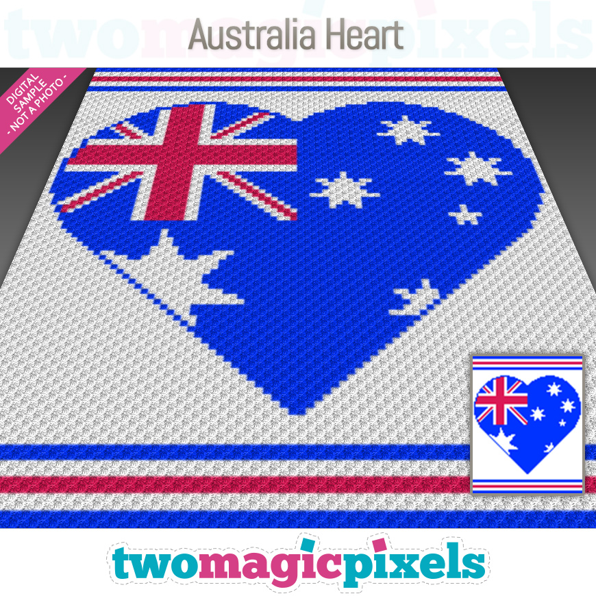 Australia Heart by Two Magic Pixels