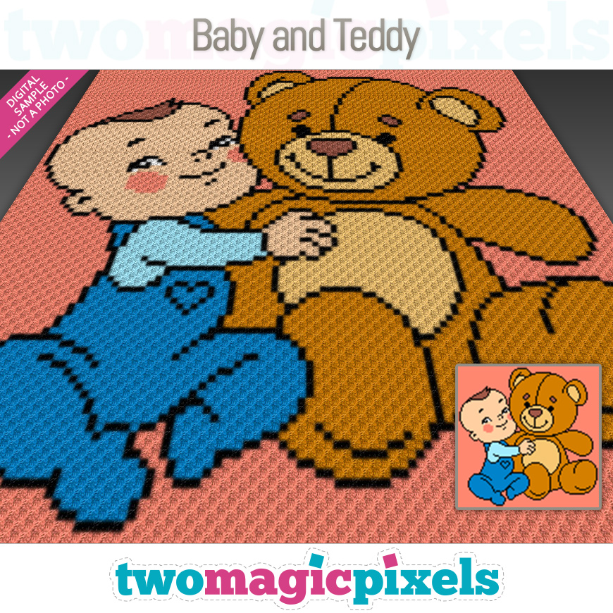 Baby and Teddy by Two Magic Pixels
