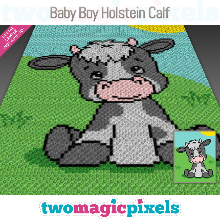 Baby Boy Holstein Calf by Two Magic Pixels