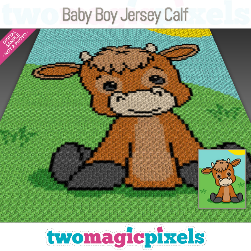 Baby Boy Jersey Calf by Two Magic Pixels