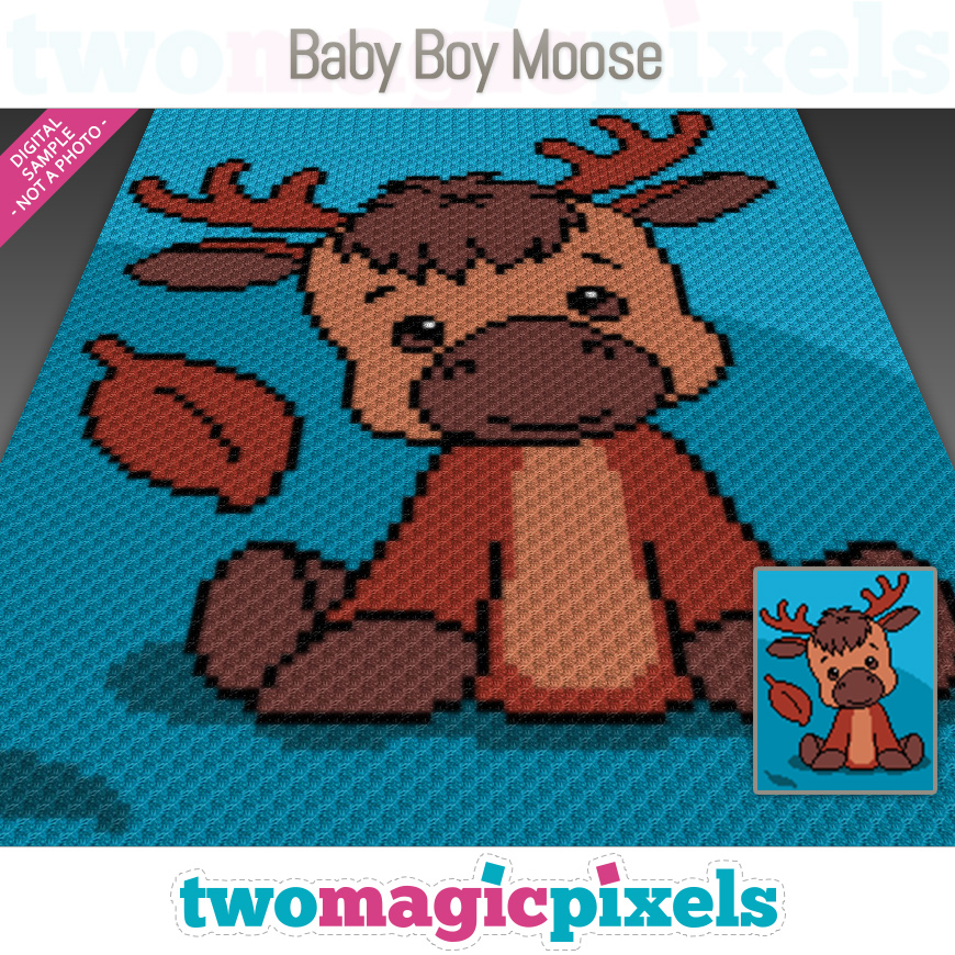 Baby Boy Moose by Two Magic Pixels