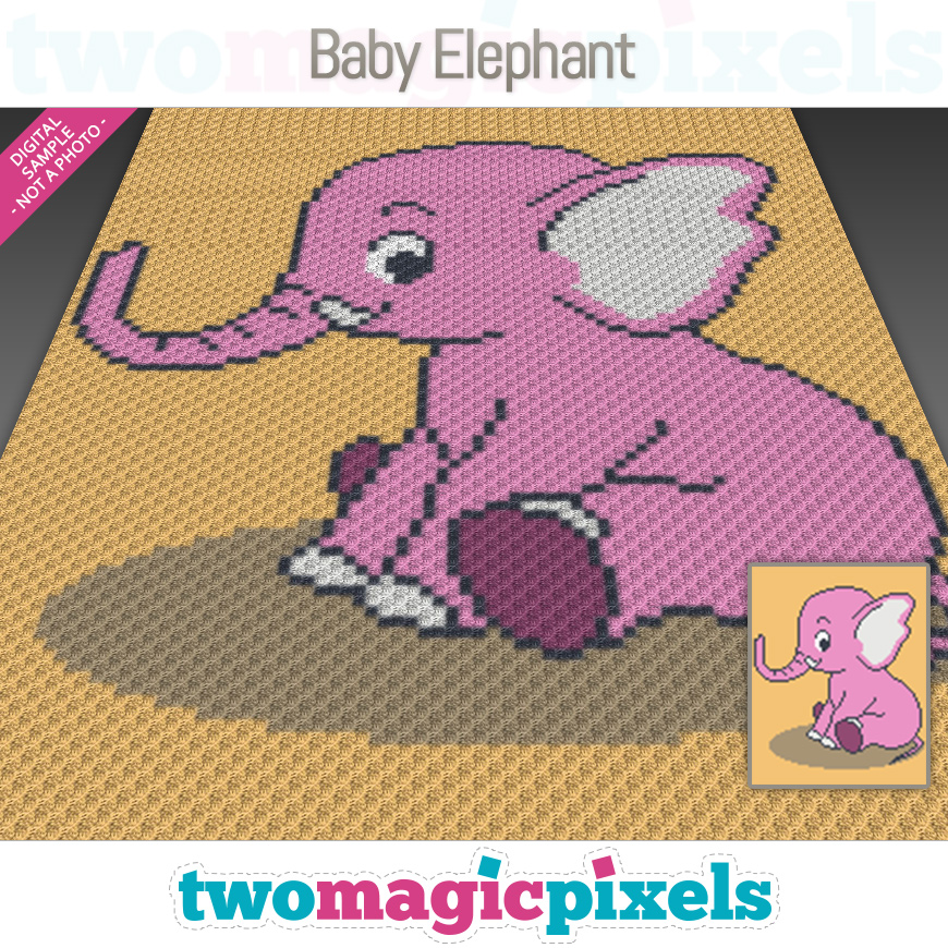 Baby Elephant by Two Magic Pixels