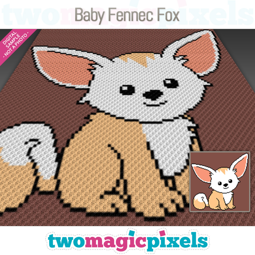 Baby Fennec Fox by Two Magic Pixels