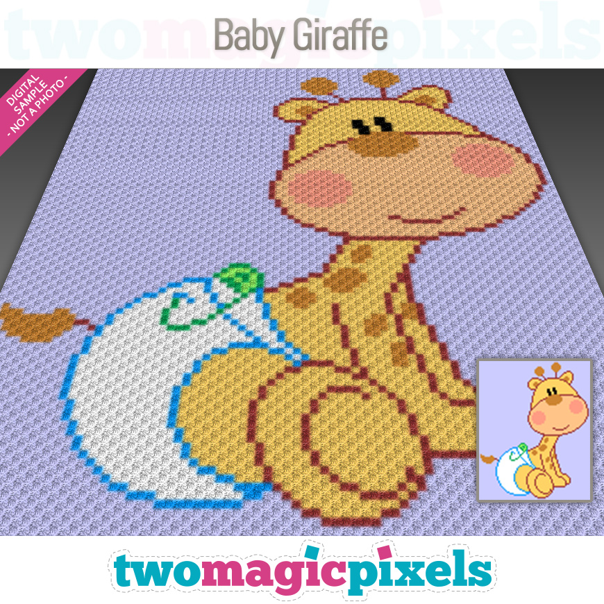 Baby Giraffe by Two Magic Pixels