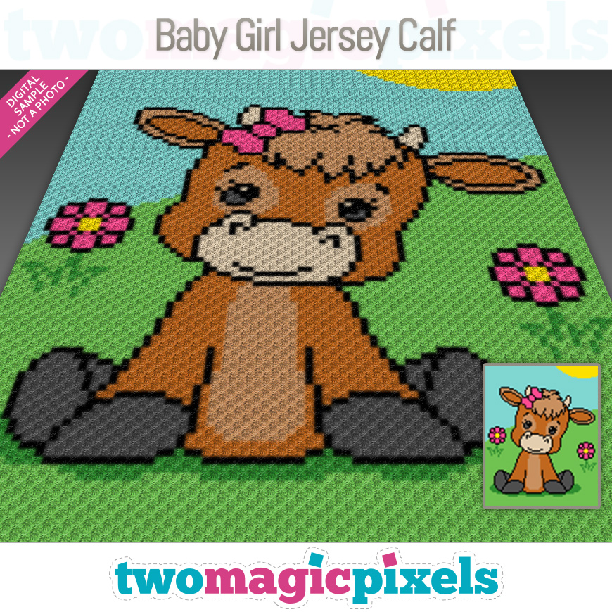 Baby Girl Jersey Calf by Two Magic Pixels