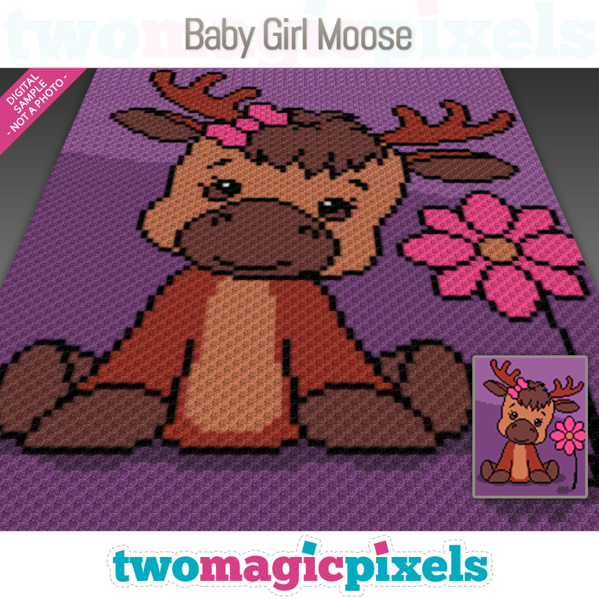 Baby Girl Moose by Two Magic Pixels