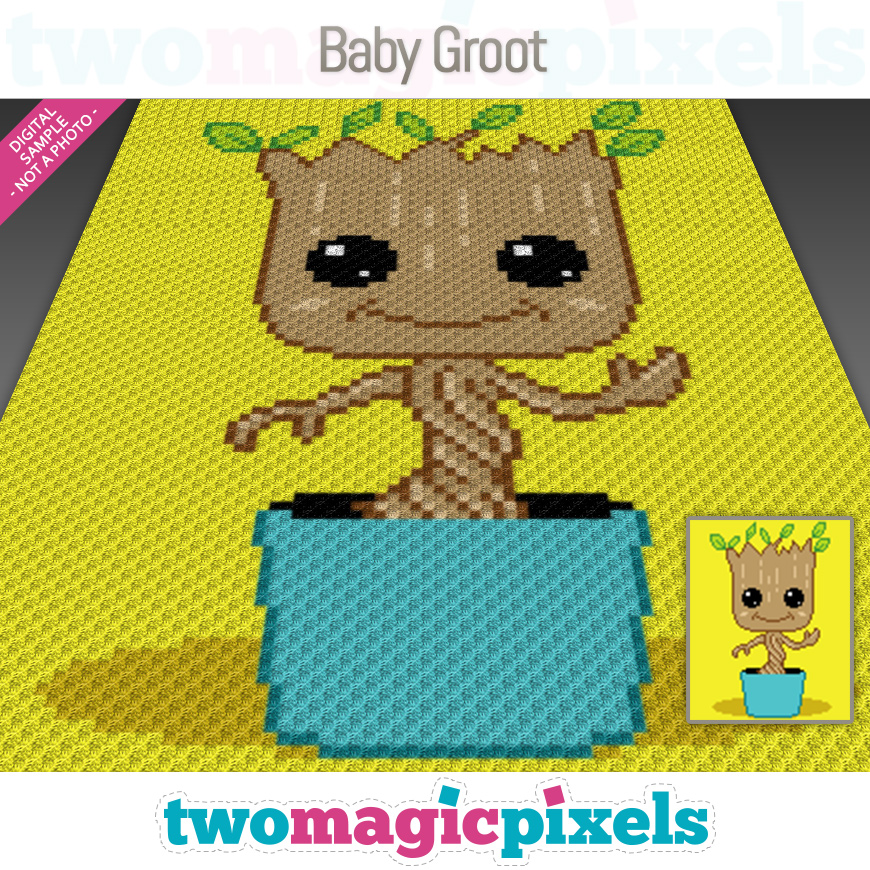 Baby Groot by Two Magic Pixels