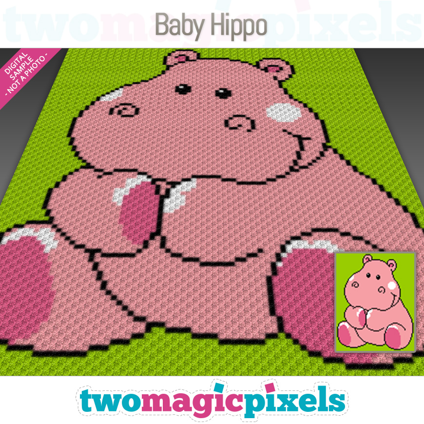Baby Hippo by Two Magic Pixels