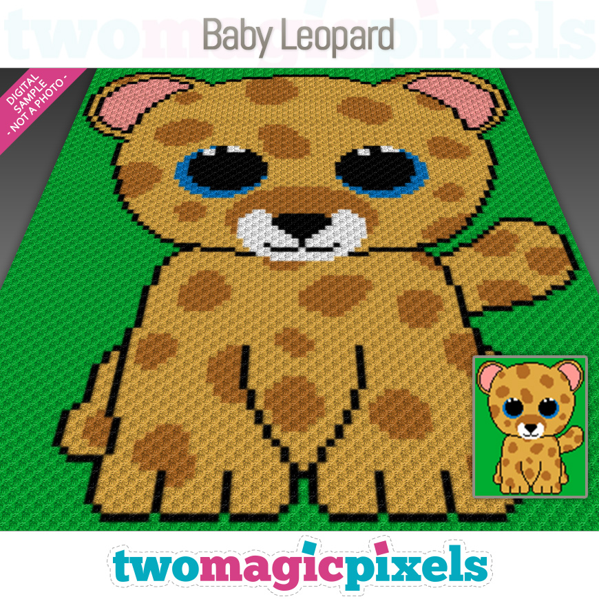 Baby Leopard by Two Magic Pixels