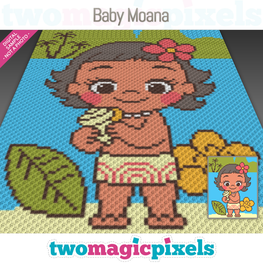 Baby Moana by Two Magic Pixels