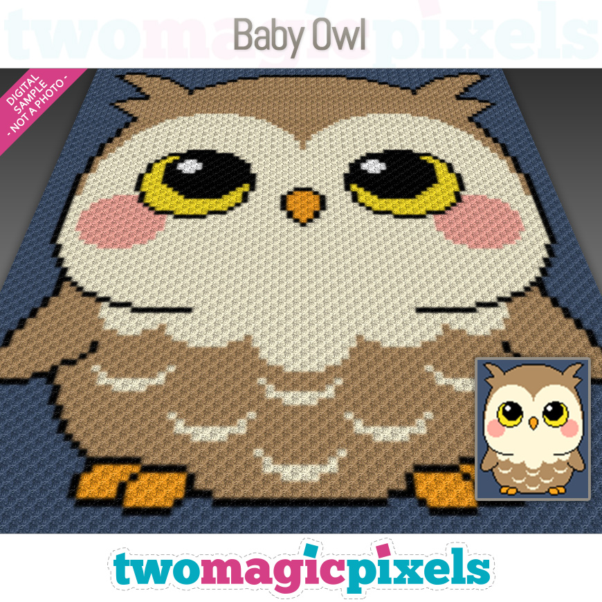 Baby Owl by Two Magic Pixels