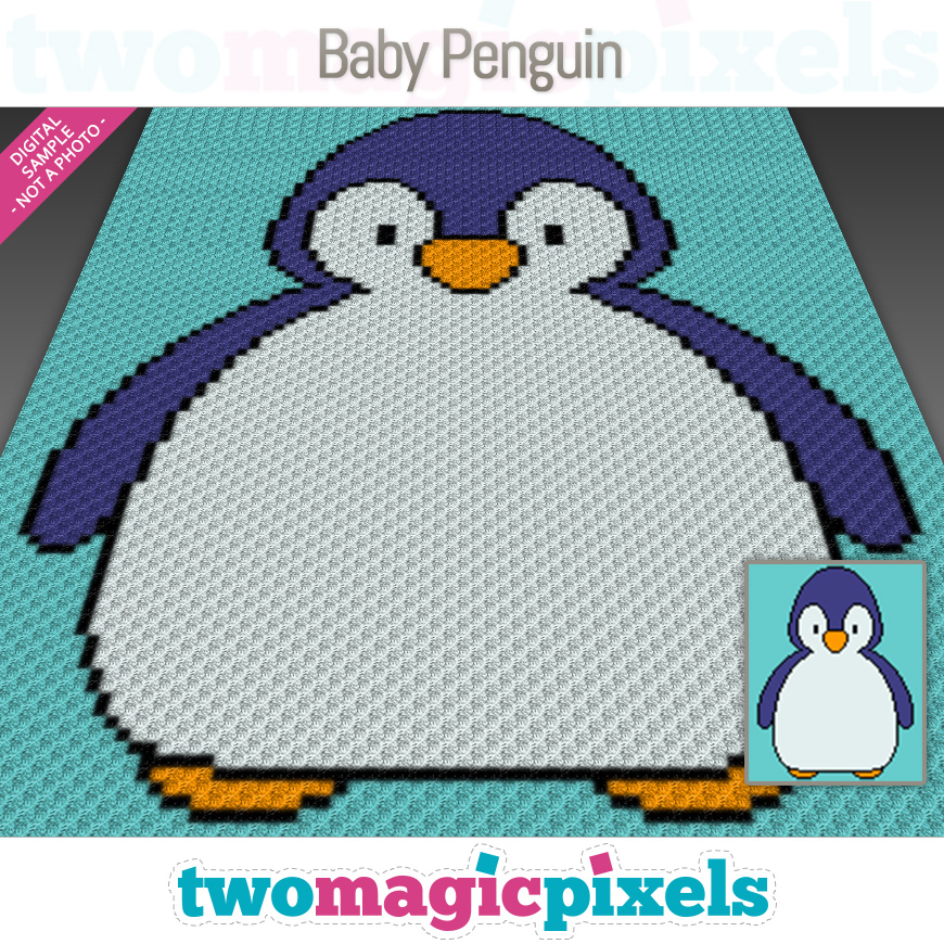 Baby Penguin by Two Magic Pixels