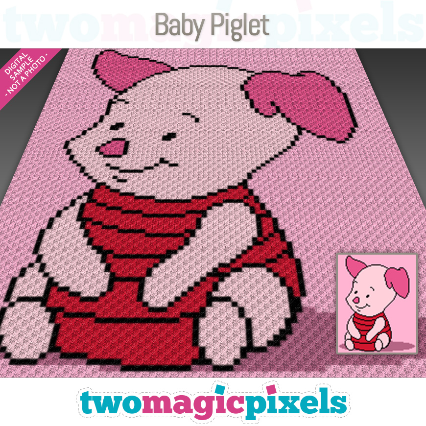 Baby Piglet by Two Magic Pixels