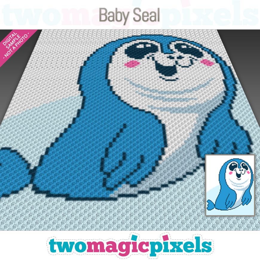 Baby Seal by Two Magic Pixels