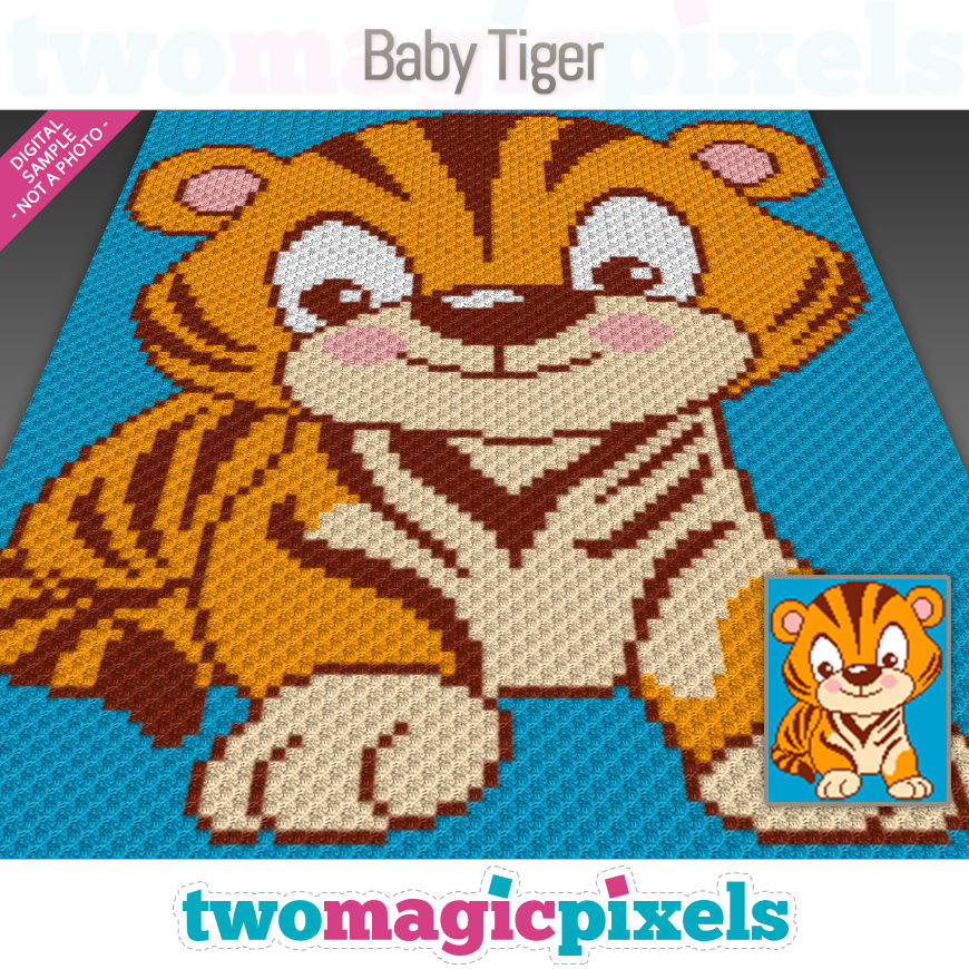 Baby Tiger by Two Magic Pixels