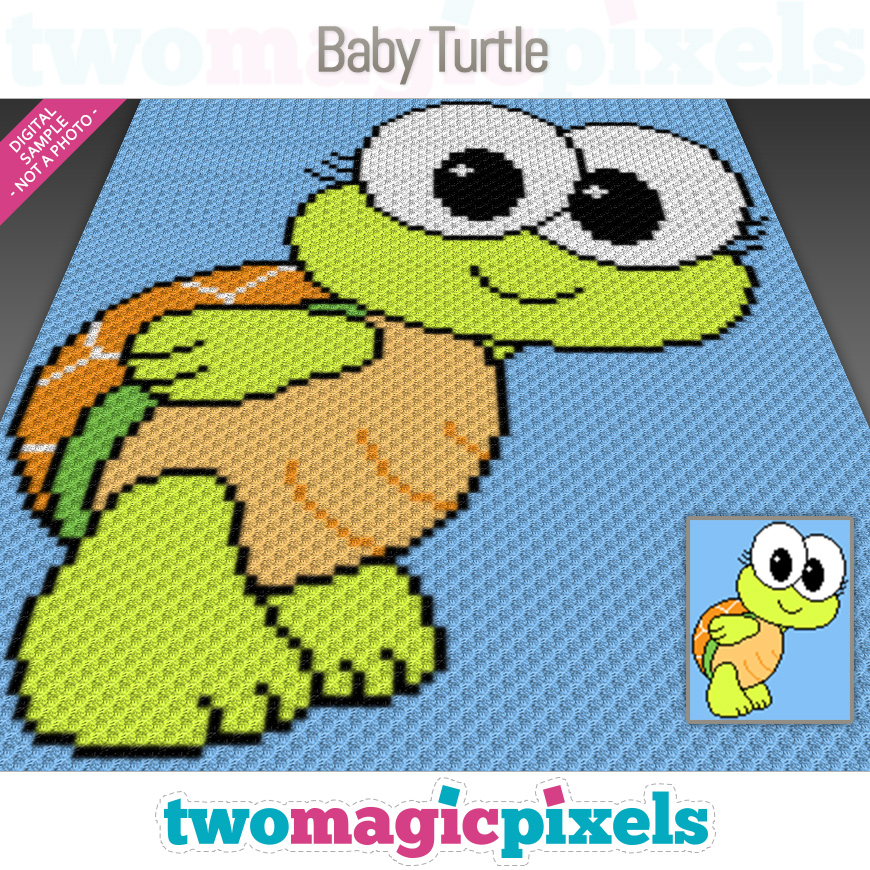 Baby Turtle by Two Magic Pixels