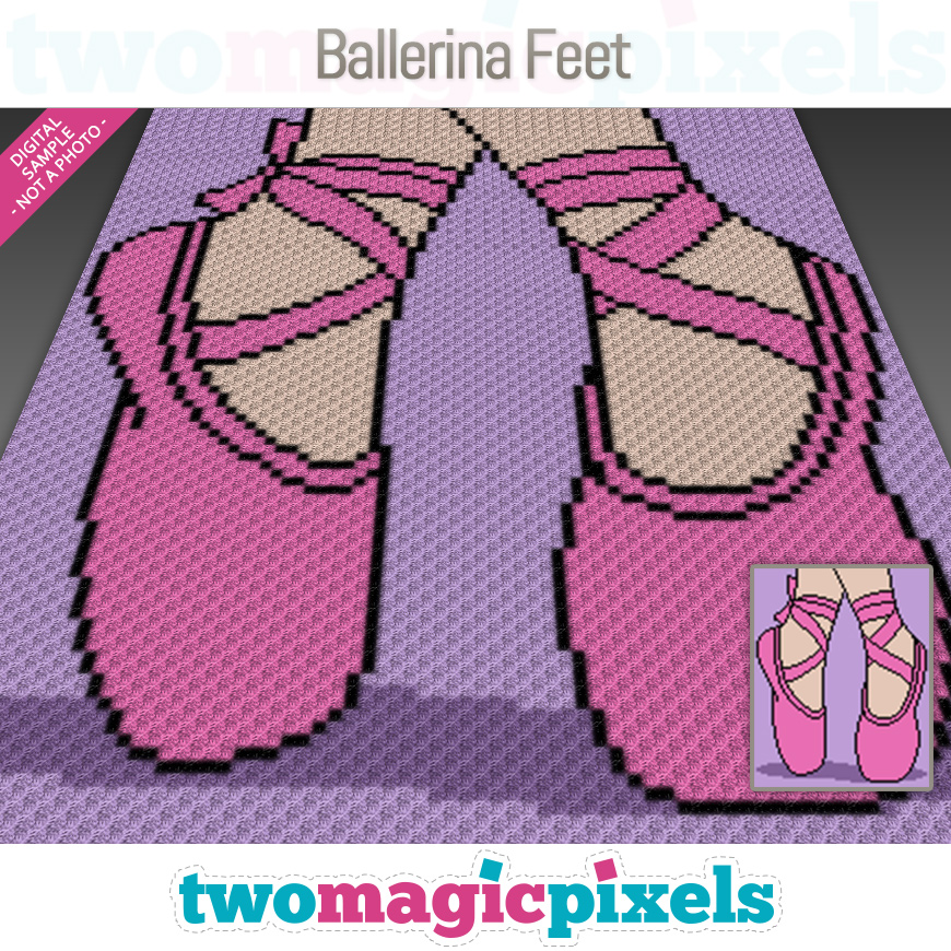 Ballerina Feet by Two Magic Pixels