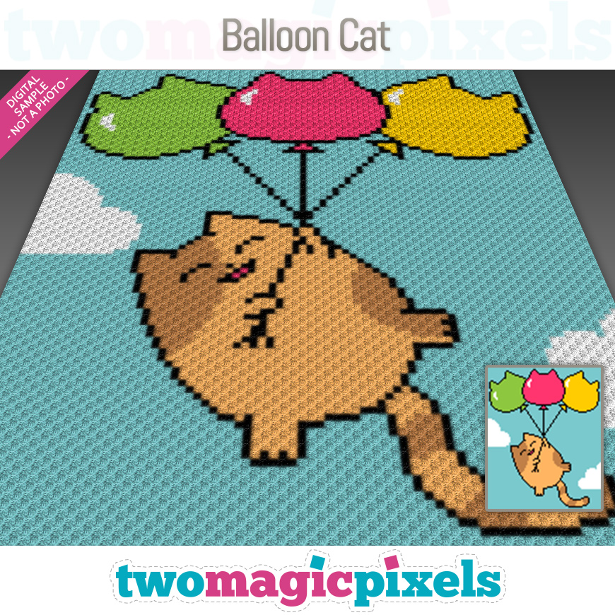 Balloon Cat by Two Magic Pixels