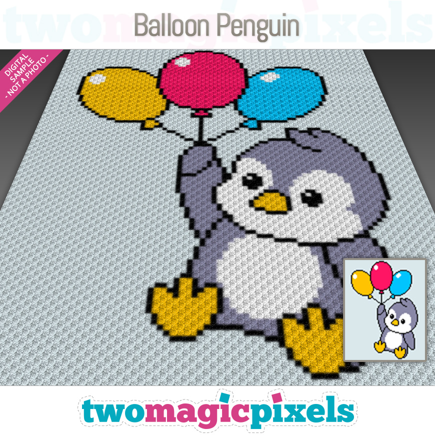 Balloon Penguin by Two Magic Pixels