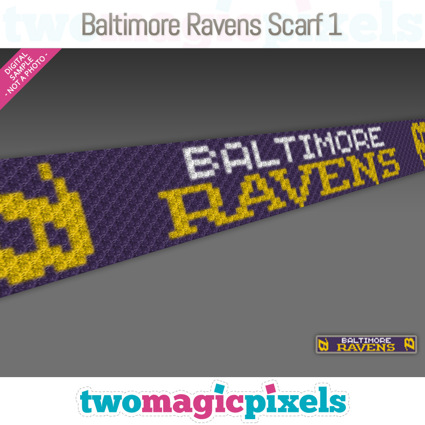 Baltimore Ravens Scarf 1 by Two Magic Pixels