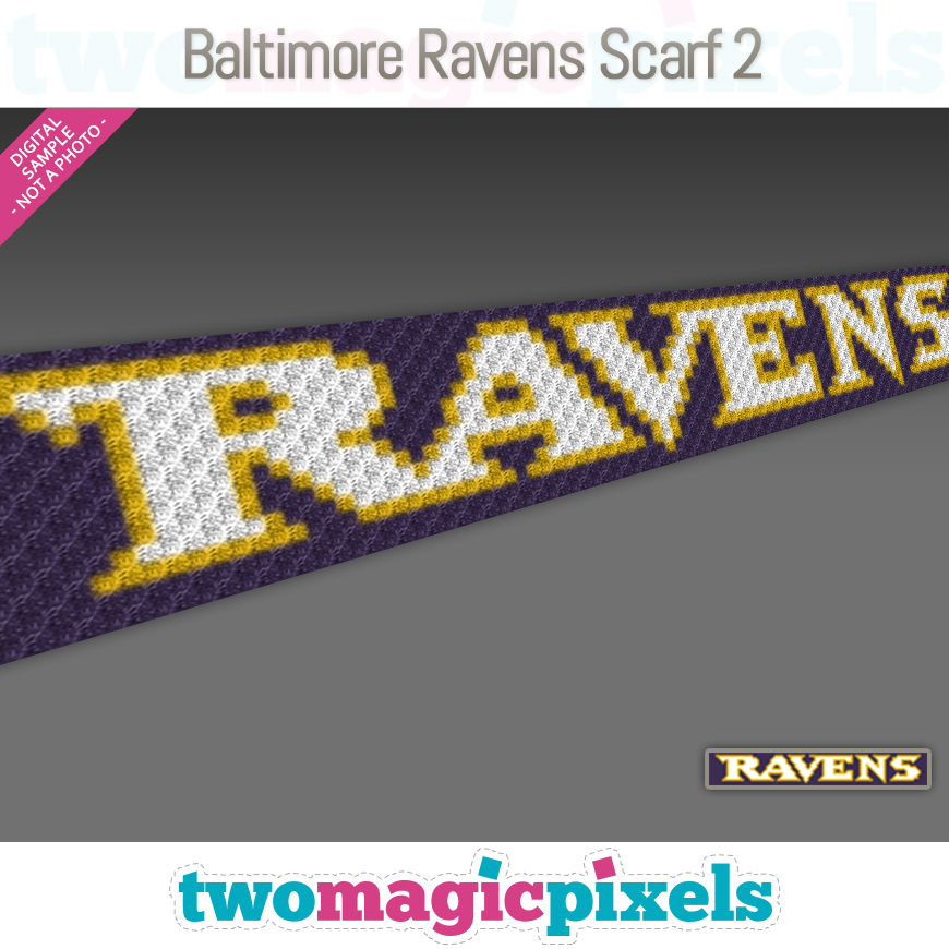 Baltimore Ravens Scarf 2 by Two Magic Pixels