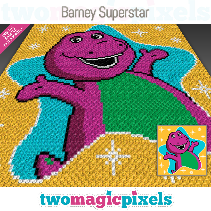 Barney Superstar by Two Magic Pixels