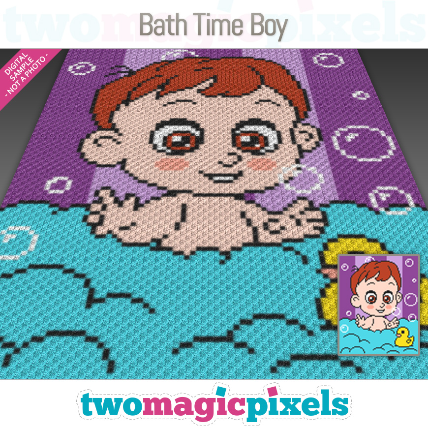 Bath Time Boy by Two Magic Pixels