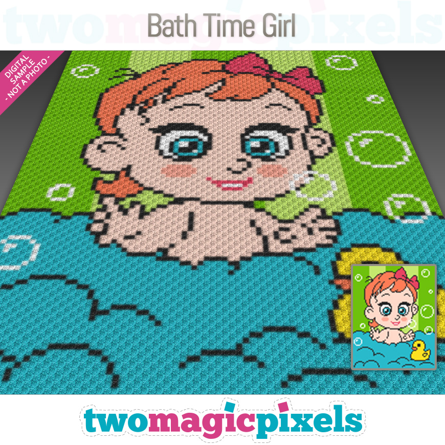 Bath Time Girl by Two Magic Pixels