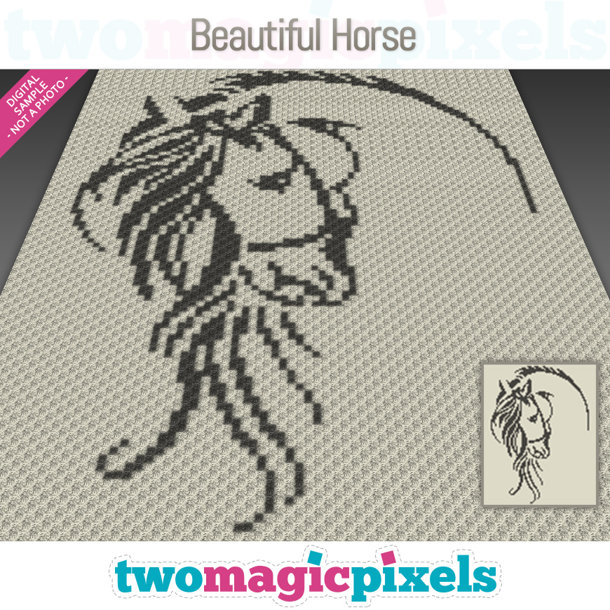 Beautiful Horse by Two Magic Pixels